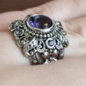 Antiqued Amethyst Ring